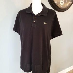 Lacoste Black two Button Men's Classic Golf Shirt